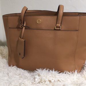 Tory Burch Leather Robinson Small shoulder Tote